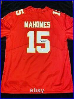 Patrick Mahomes Signed Nike NFL Kansas City Chiefs Jersey with COA