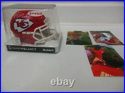 Patrick Mahomes Ty Hill Travis Kelce Signed Kansas City Chiefs Speed Mini Helmet