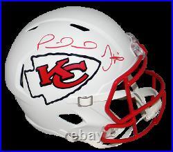 Patrick Mahomes Tyreek Hill Signed Kansas City Chiefs White Full Size Helmet Jsa