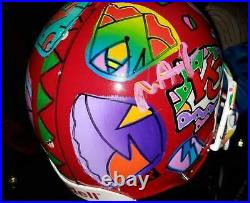 Peter Max SIGNED 1/1 Full Size Helmet original Art KC Kansas City Chiefs