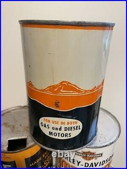 Rare Nourse Orange Quart Heavy Duty Gas Diesel Oil Can Full Kansas City MO