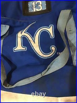 Salvador Perez Signed Kansas City Royals Auto game used Equipment Bag MLB Holo