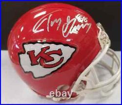 TONY GONZALEZ Autographed Kansas City Chiefs Mini Helmet with COA