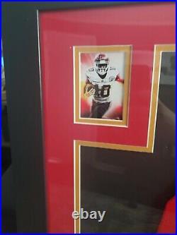 TYREEK HILL FRAMED Autographed/Signed Jersey Kansas City Chiefs with Beckett COA