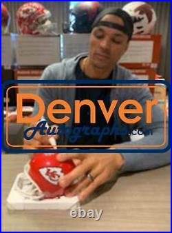 Tony Gonzalez Autographed Kansas City Chiefs Mini Helmet Beckett BAS 32153