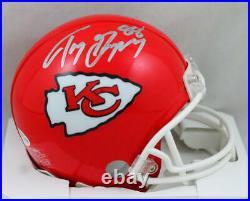 Tony Gonzalez Autographed Kansas City Chiefs Mini Helmet- Beckett W Silver