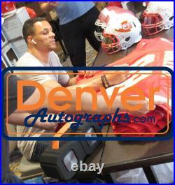 Tony Gonzalez Autographed Kansas City Chiefs Red XL Jersey BAS 20772