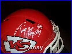 Tony Gonzalez Autographed Kansas City Chiefs Signed Speed Replica Helmet JSA COA