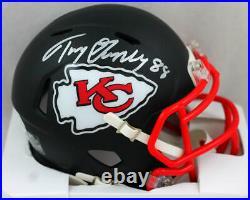 Tony Gonzalez Signed Kansas City Chiefs Flat Black Mini Helmet- Beckett Auth