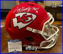 Tony Gonzalez Signed Kansas City Chiefs Full Size Speed Helmet HOF 19 Beckett