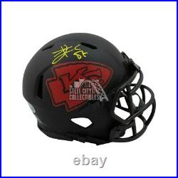 Travis Kelce Autographed Kansas City Chiefs Eclipse Mini Football Helmet BAS COA