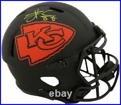 Travis Kelce Autographed Kansas City Chiefs Eclipse Replica Helmet BAS 27666