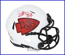 Travis Kelce Autographed Kansas City Chiefs Lunar Mini Helmet BAS 31525