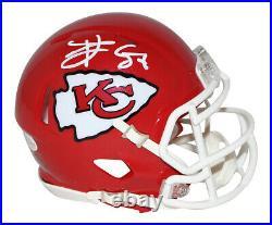 Travis Kelce Autographed Kansas City Chiefs Speed Mini Helmet BAS 30086