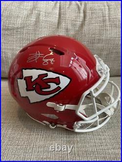Travis Kelce Autographed Signed Kansas City Chiefs Full Size Authentic Helmet