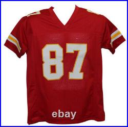 Travis Kelce Autographed/Signed Kansas City Chiefs Red XL Jersey BAS 22489