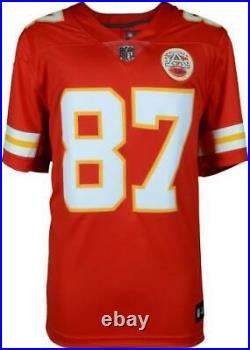 Travis Kelce Kansas City Chiefs Autographed Red Nike Limited Jersey