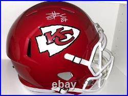 Travis Kelce Signed Autod Kansas City Chiefs Full Size Helmet NFL Includes COA