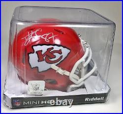Travis Kelce Signed Autographed Kansas City Chiefs NFL Football Mini Helmet PAAS
