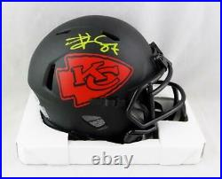 Travis Kelce Signed Kansas City Chiefs Eclipse Speed Mini Helmet- Beckett W Auth