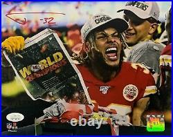Tyrann Mathieu Autographed Kansas City Chiefs Super Bowl 54 LIV 8x10 Photo JSA