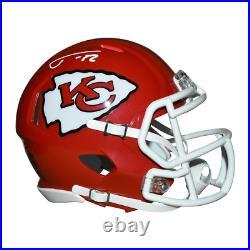 Tyrann Mathieu Signed Kansas City Chiefs Speed Mini Replica Red Football Helmet