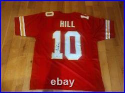 Tyreek Hill #10 Signed Jersey XL Kansas City Chiefs Beckett Certified