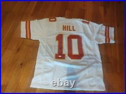 Tyreek Hill #10 Signed Jersey XL Kansas City Chiefs JSA Certified