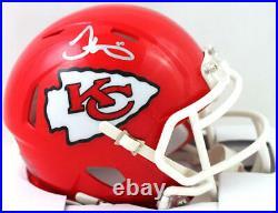 Tyreek Hill Autographed Kansas City Chiefs Speed Mini Helmet- JSA W Auth Silver