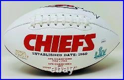 Tyreek Hill Autographed Kansas City Chiefs Superbowl Logo Football JSA Authen