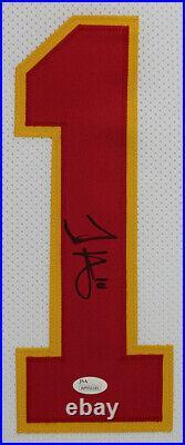 Tyreek Hill Autographed and Framed White Kansas City Chiefs Jersey JSA COA
