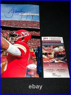 Tyreek Hill Kansas City Chiefs Signed 11x14 Photo Jsa Witness Coa Mahomes Jump