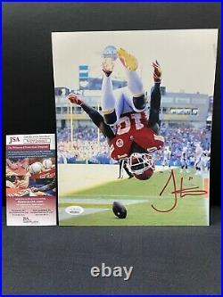 Tyreek Hill Kansas City Chiefs Signed 8x10 Photo Jsa Witness Coa Touchdown Flip