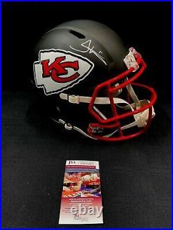Tyreek Hill Kansas City Chiefs Signed Full Size Black Helmet Jsa Witness Coa