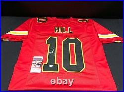 Tyreek Hill Kansas City Chiefs Signed Red Custom Jersey Jsa Witness Coa Sb Champ