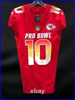 Tyreek Hill Kansas City Chiefs Signed Team Issued Pro Bowl Jersey Jsa Coa Rare