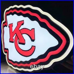 UE, Kansas City Chiefs 2ft x 2ft, LED Neon Sign, Man Cave, Sports Bar