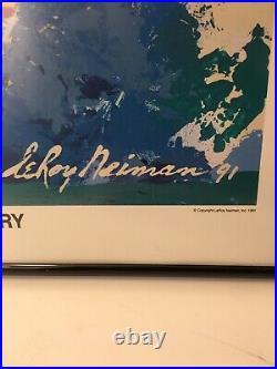 Vintage LeRoy Neiman Print Kansas City Chiefs Nick Lowery Signed Print 1991