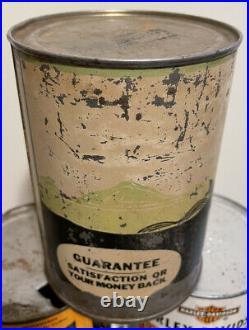 Vintage Nourse Qt Green Motor Oil Can Metal Kansas City MO Viking Original