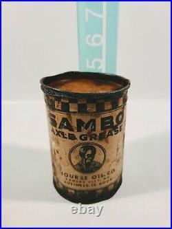 Vintage Sambo Axle Grease Can Nourse Oil Co Kansas City MO RARE