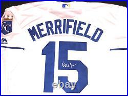 Whit Merrifield Hand Signed Kansas City Royals Jersey BAS Beckett Cert